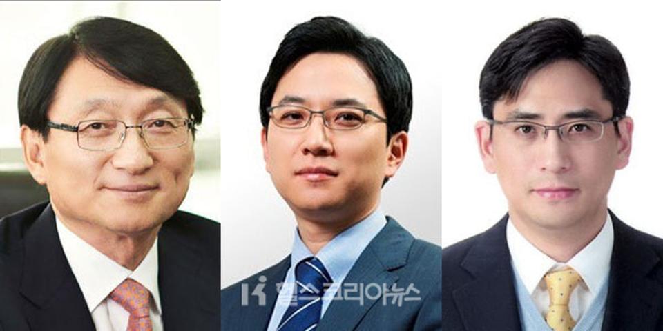 Ejecutivos de GC Green Cross Group (desde la izquierda), presidente de GC, Heo Il-seop, Huh Eun-cheol, presidente de GC Green Cross, y Yoo-Jun Yoo, presidente de GC Green Cross Holdings.